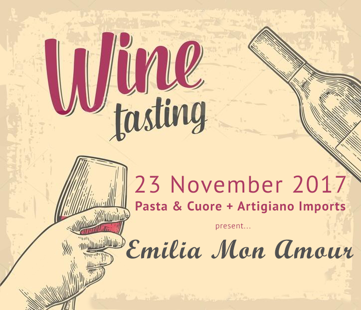 Wine tasting event at Pasta & Cuore